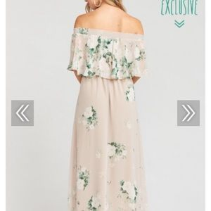 Hacienda maxi dress - toss your bouquet chiffon